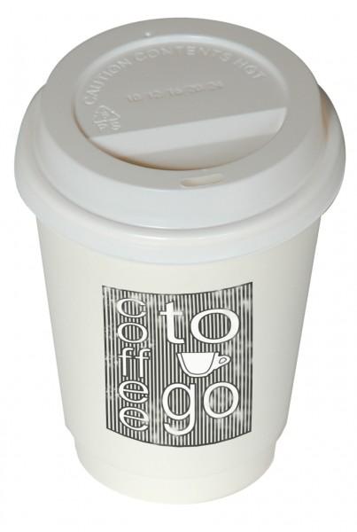 To Go Cup Papier 1000 Stk weiss & Deckel 300ml